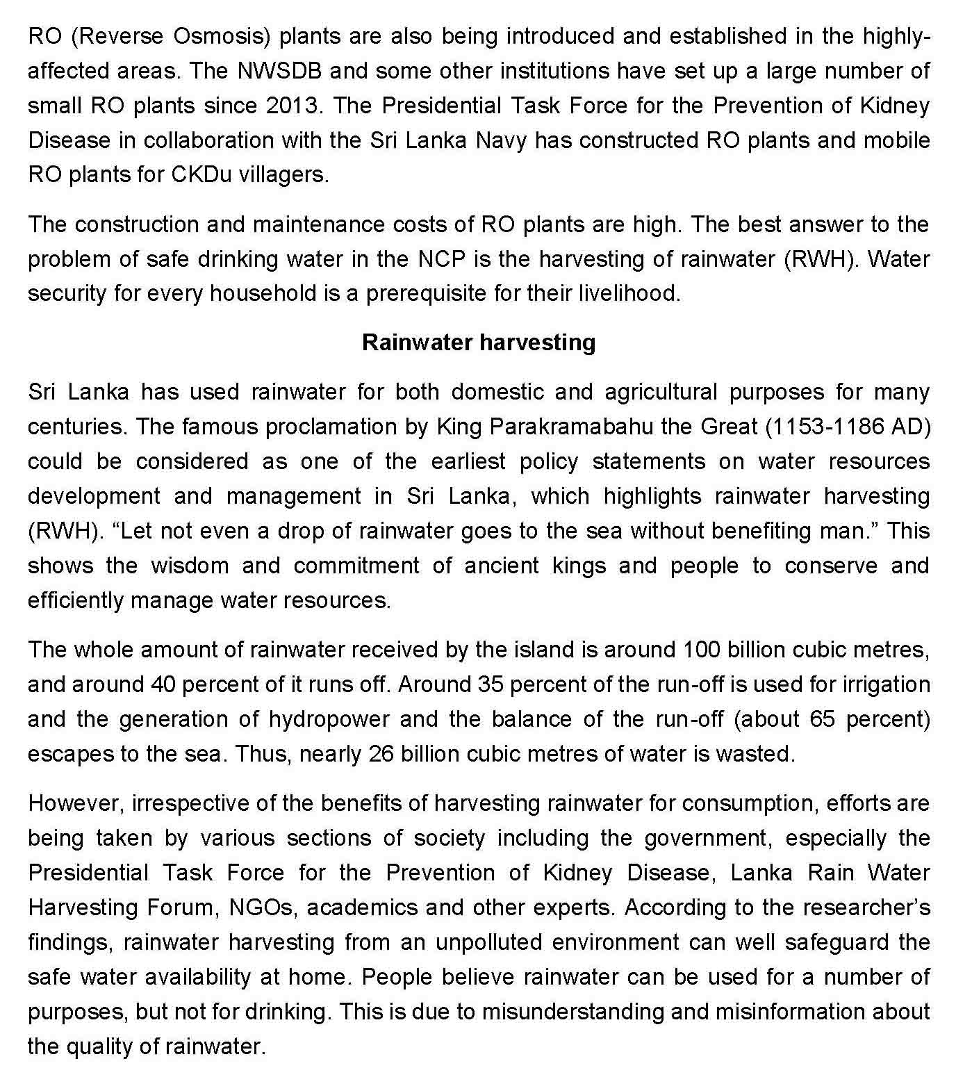 Drinking harvested rainwater safely Page 3